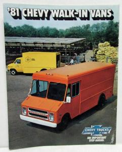 1981 Chevrolet Walk-In Vans Sales Folder