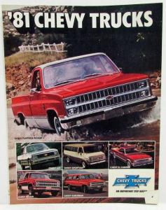 1981 Chevrolet Trucks Sales Folder