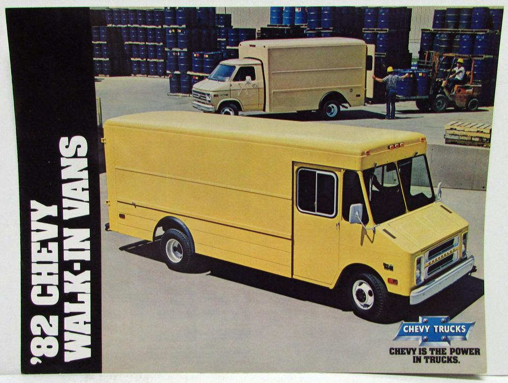 1982 Chevrolet Walk-In Vans Sales Folder