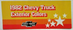 1982 Chevrolet Trucks Factory Exterior Colors
