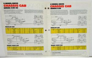 1982 Chevrolet Trucks Chassis Cab Sales Brochure