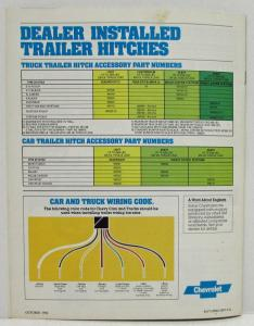 1983 Chevrolet Recreation and Trailering Guide Sales Brochure