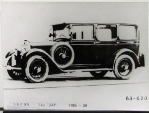 1926 1927 1928 Skoda Auto Car Typ 360 Press Photo