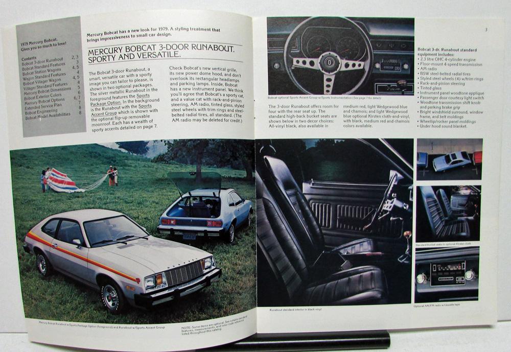 1979 Mercury Dealer Sales Brochure Bobcat Features & Options
