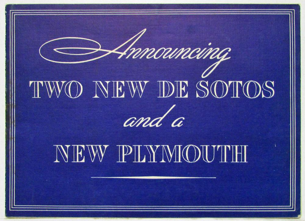 1935 desotos announcing two new models and a plymouth sales folder 1935 desotos announcing two new models and a plymouth sales folder invitation stopboris Image collections