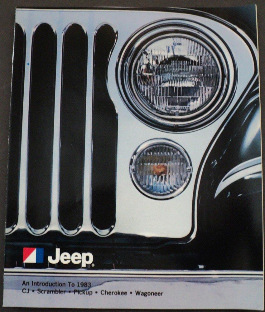 1983 Jeep An Intro To CJ Scrambler Pickup Cherokee Wagoneer AMC Sales  Brochure