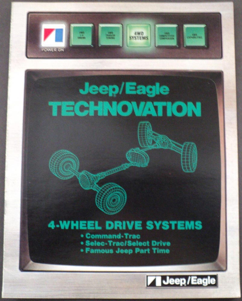 1984 Jeep Eagle Technovation 4 Wheel Drive Systems Dealer Sales Brochure