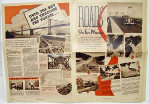 1937 Dodge News Magazine Roads in Far Places Vol 2 No 7