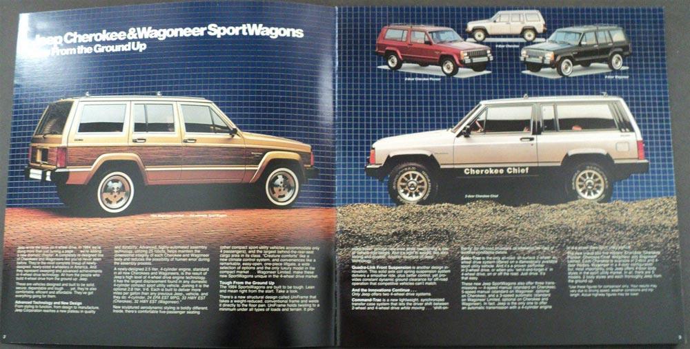 1984 Jeep Cherokee Wagoneer SportWagons ORIGINAL Dealer ...