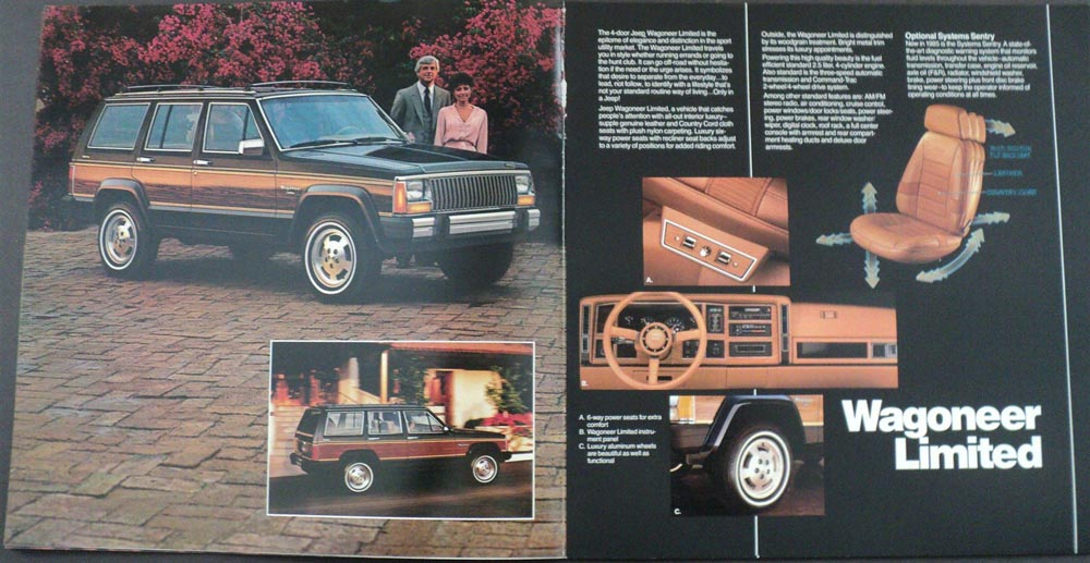 New Jeep Grand Wagoneer >> 1985 Jeep Cherokee Chief Pioneer Laredo Wagoneer Limited Dealer Sales Brochure