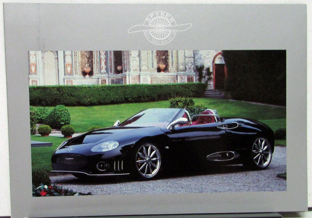 2004 Spyker Sales Folder C8 Double 12r S Laviolette Sports Car