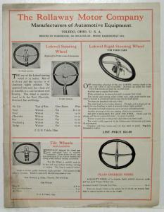 1926 Ford Rollaway Motor Company Accessories Sales Brochure