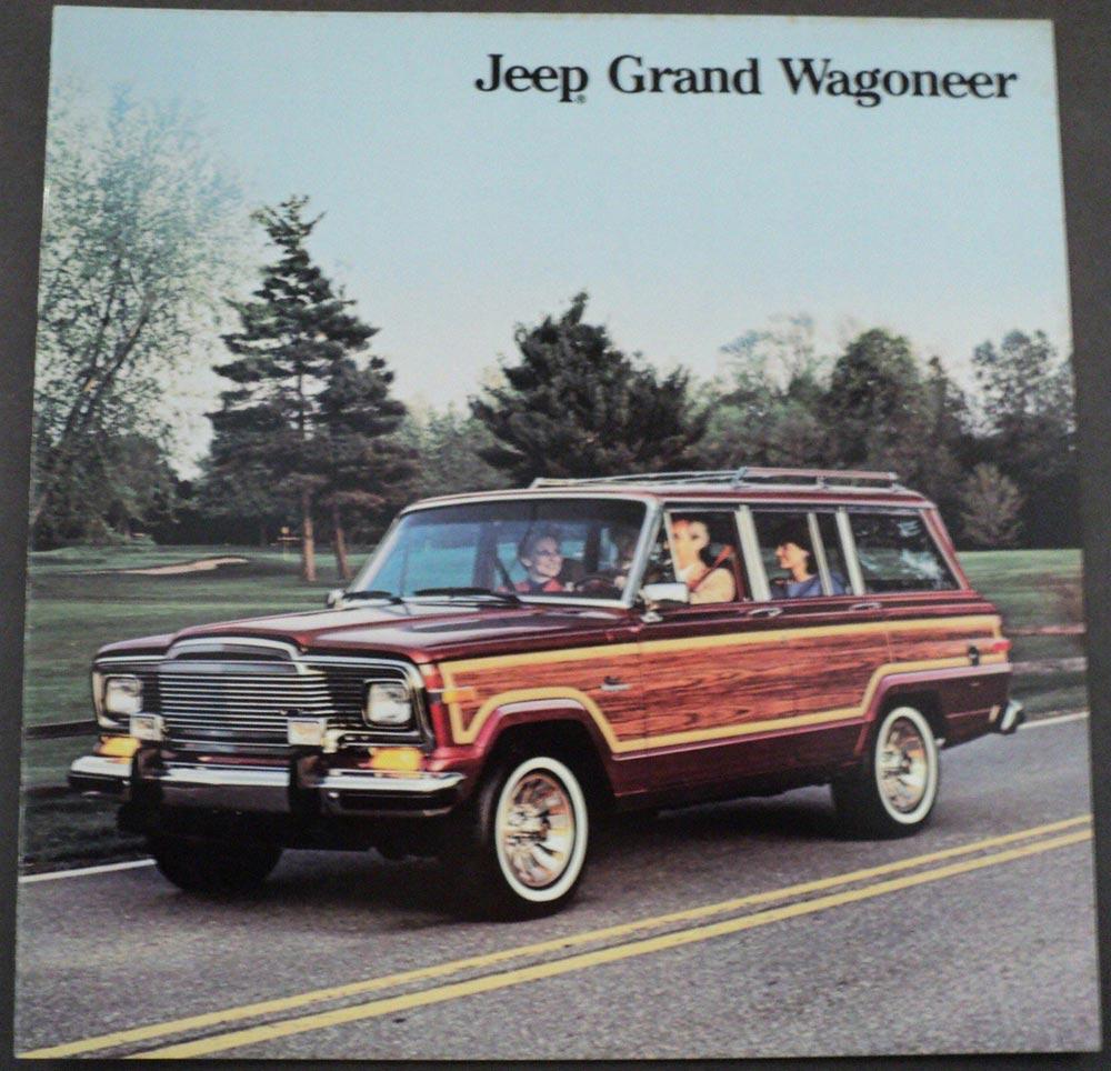 1985 Jeep Grand Wagoneer Original Dealer Sales Brochure