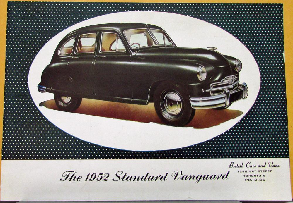 Standard Vanguard British Car Sales Folder Printed in England Original