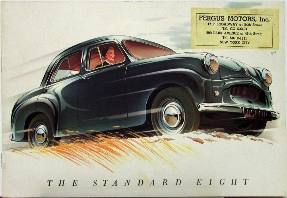 1954 Standard Eight British Import Car US Marketed Sales Brochure ...