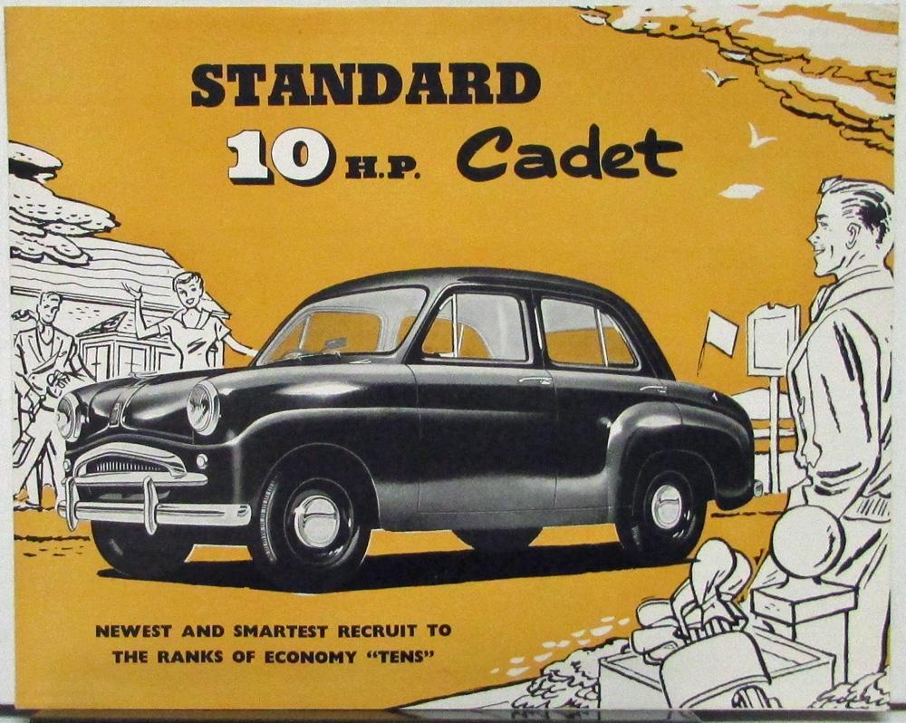 1955 Standard 10 HP Cadet Car Sales Folder Printed England Australia ...