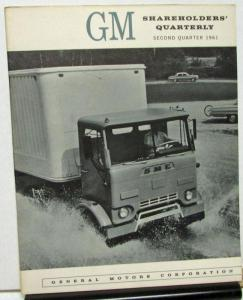 1961 Second Quarter General Motors Stock Shareholders Quarterly Financial Report