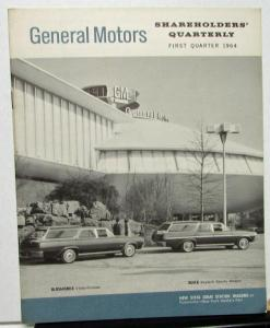 1964 First Quarter General Motors Stock Shareholders Quarterly Financial Report