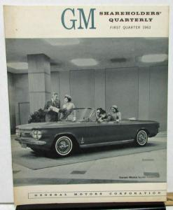 1962 First Quarter General Motors Shareholders Quarterly Financial Report