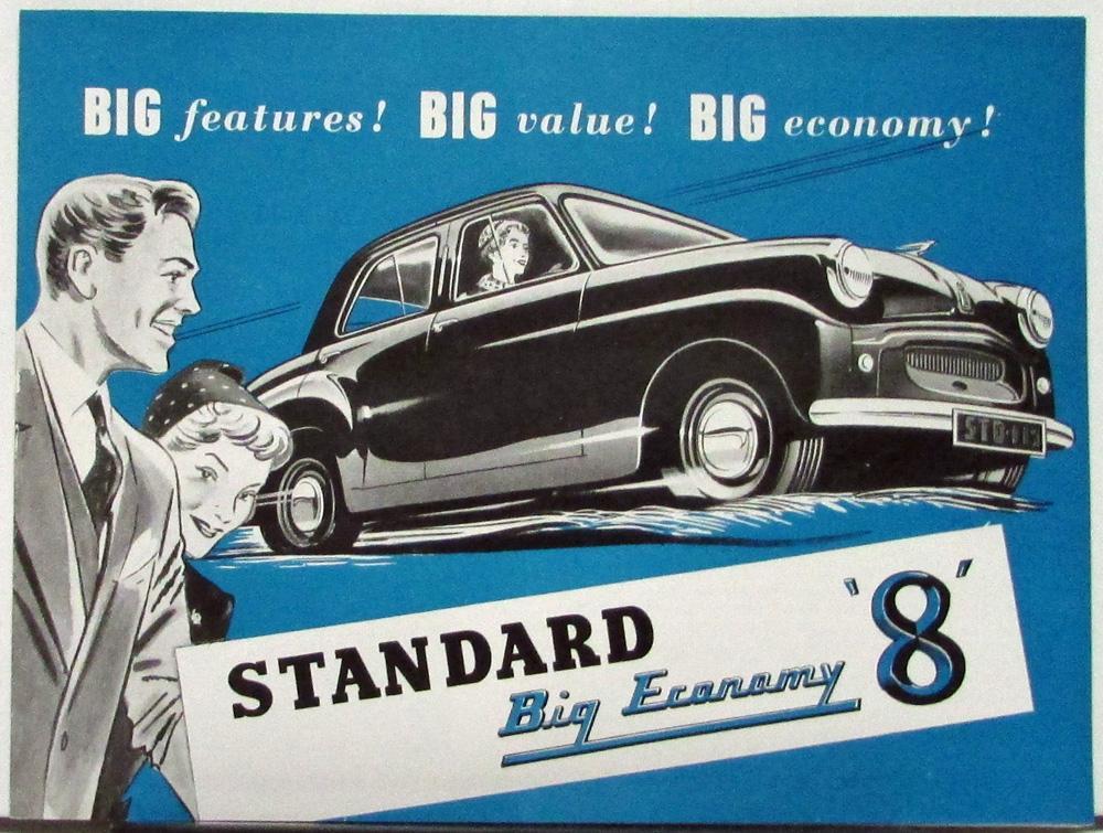 1955 Standard 8 Eight Car Sales Folder Printed England Australia ...