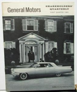 1963 First Quarter General Motors Stock Shareholders Quarterly Financial Report