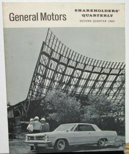 1963 Second Quarter General Motors Stock Shareholders Quarterly Financial Report