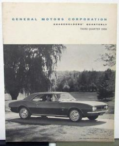 1966 Third Quarter General Motors Shareholders Quarterly With 1967 Models
