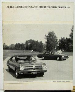 1971 Third Quarter General Motors Shareholders Quarterly With 1972 Models Shown