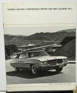 1972 first quarter general motors stock shareholders for L and m motors athens tn