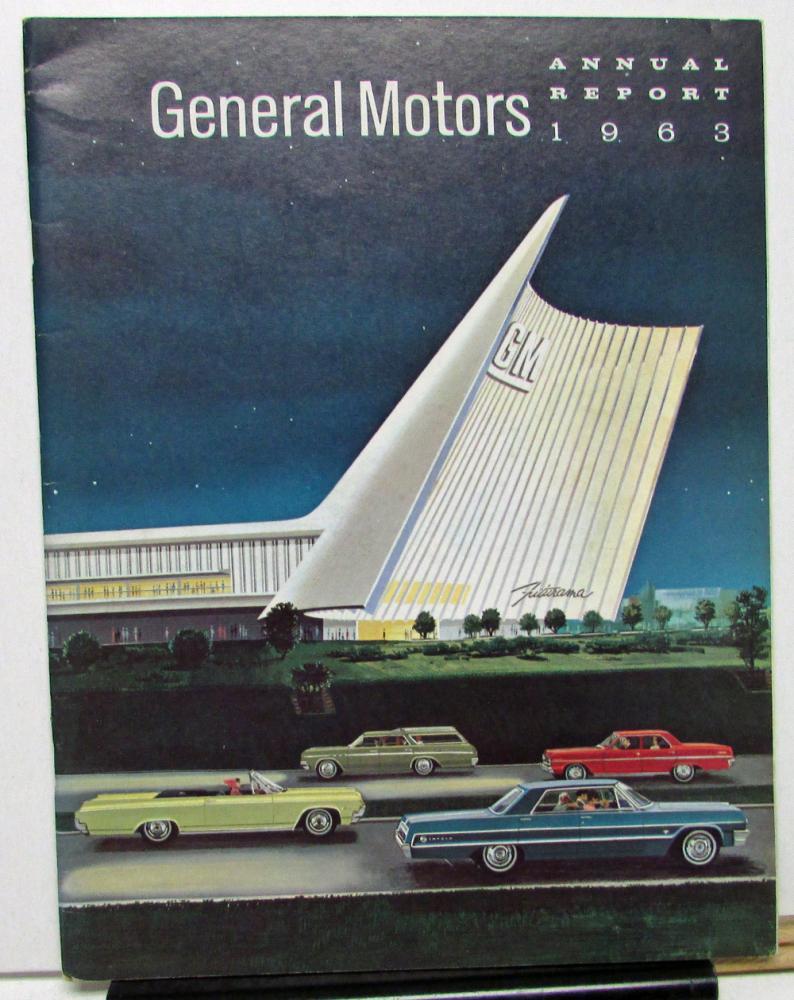 1963 general motors gm annual report booklet shareholders for Stock price for general motors