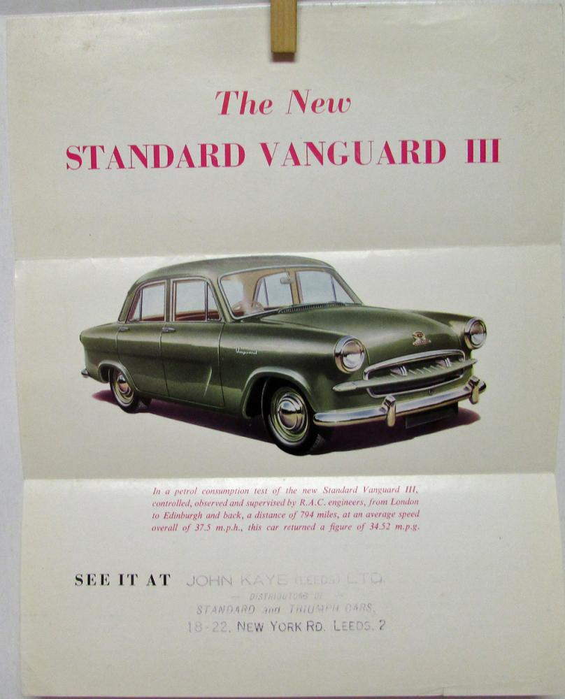 Standard Vanguard III English Text Color Sales Folder Original