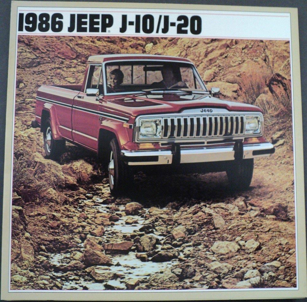 1986 Jeep J10 J20 Pickup Original Dealer Sales Brochure