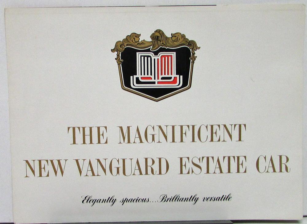 Standard Vanguard Estate Car Wagon Australian Market Sales Folder ...