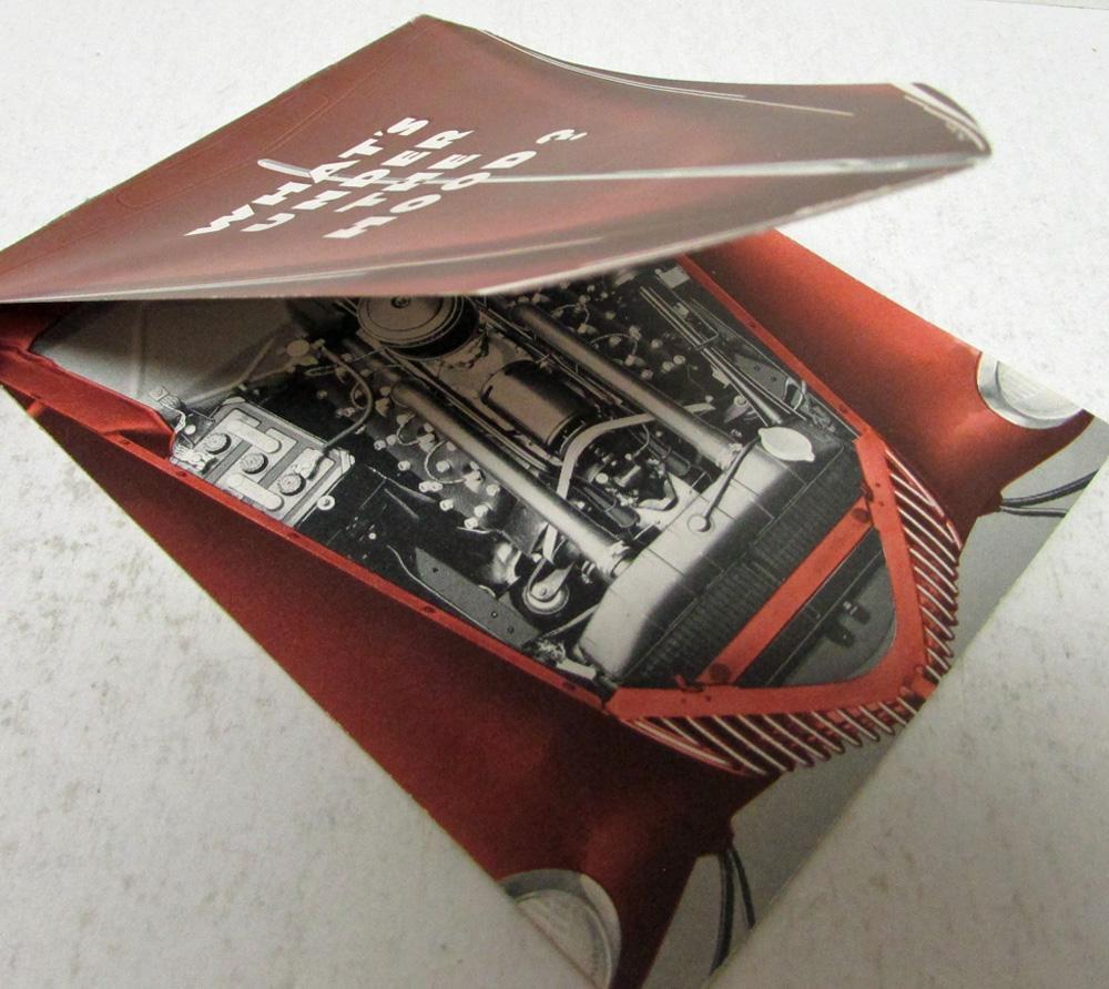 1939 Ford V8 Engine Sales Brochure Original Die Cut Hood
