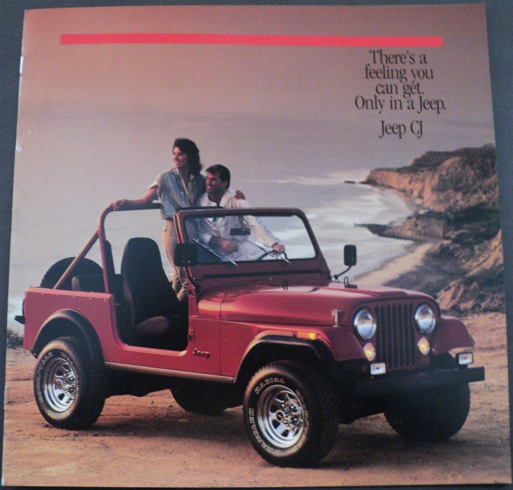 1986 Jeep CJ Renegade Laredo Original Dealer Sales Brochure