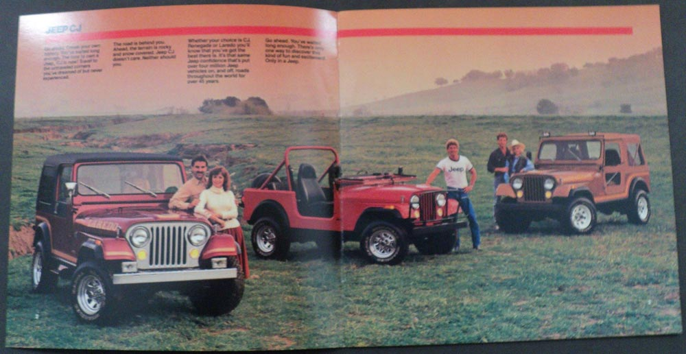 jeep cj7 renegade 1981 with 1986 Jeep Cj Renegade Laredo Original Dealer Sales Brochure on 1976 To 1986 Jeep Cj 7 furthermore Wiring Diagram 77 Cj 7 258 6 Cyl 5572 likewise 497 Jeep Cj5 For Sale Wallpaper 4 besides New Alternator Voltage Reg Question 763216 moreover 381203085507.