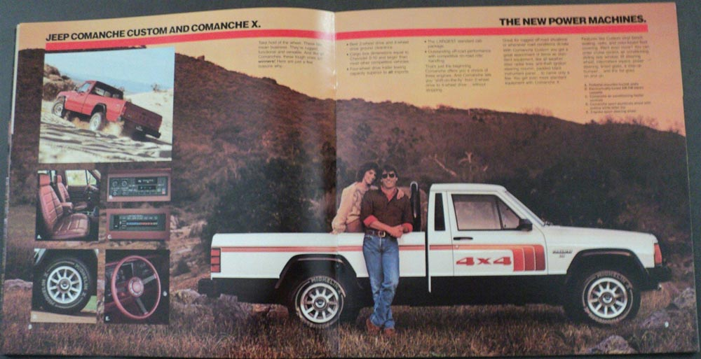 1986 Jeep Comanche Custom X XLS Original Dealer Sales Brochure