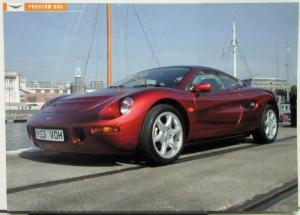 2002 ? Phantom VV6 Sports Car By Studio G London Data Sheet Specs Original