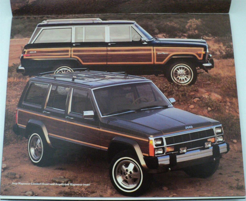 Interior Jeep Accessories >> 1987 Jeep Wagoneer Limited Grand Original Dealer Sales Brochure