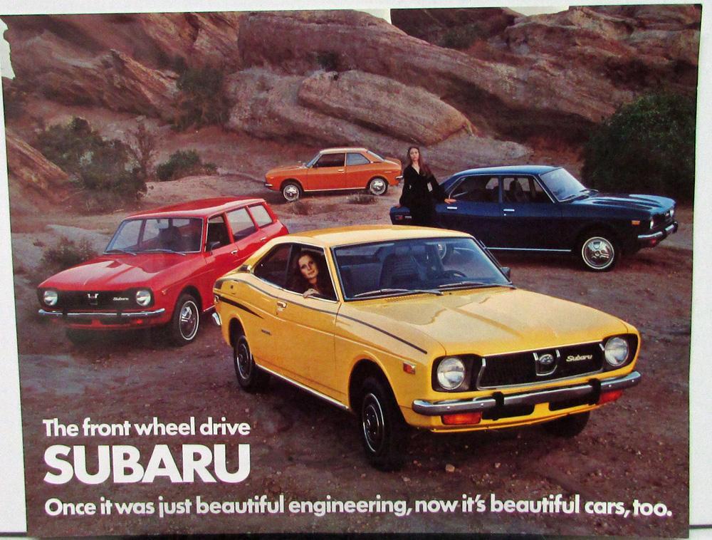1973 1974 1975 1976 Subaru Dl Sedan Wagon Gl Coupe Data Sheet Original