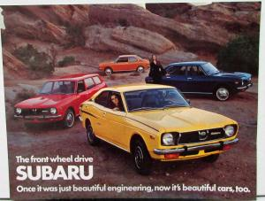 1973 1974 1975 1976  Subaru DL Sedan Wagon GL Coupe Data Sheet Original