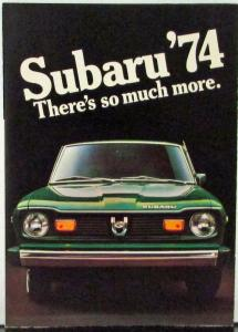 1974 Subaru GL Coupe Sedan Wagon Sales Folder Mailer Color Original