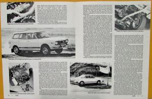 1976 Subaru FWD Superwagon Sedan Coupe Cars Magazine Review Sales Folder Orig