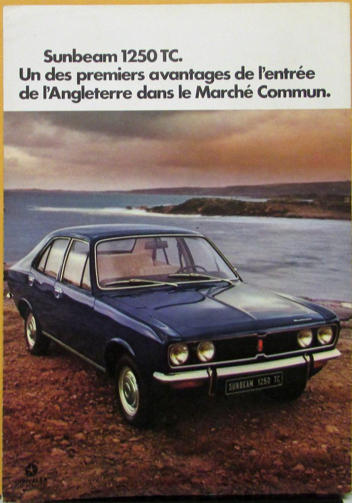 1977 1978 1979 Sunbeam 1250 1500 TC 1250 TC Break FRENCH Color Sales Folder Orig