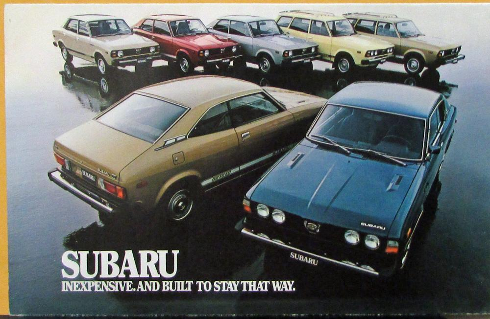 1978 Subaru 4WD Sedan Wagon Color Sales Folder MAILER Original