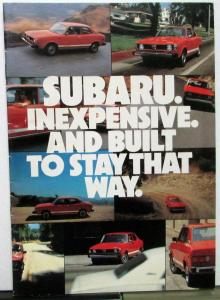 1979 Subaru Full Line Sedan DL GF Coupe Wagon Brat Sales Brochure Original