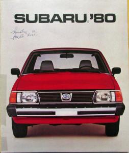 1980 Subaru Sedan Hardtop Wagon Brat Hatchback Brat Color Sales Brochure Orig