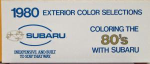 1980 Subaru Exterior Color Selections Sales Folder Original