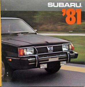 1981 Subaru 1600 1800 Sedan Hardtop Wagon Hatchback Brat Sales Brochure