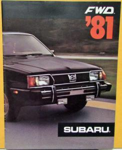 1981 Subaru Hardtop Sedan Wagon Hatchback 1600 1800 Sales Brochure Original